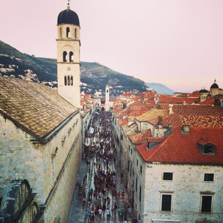 View of Stradun from the City Walls