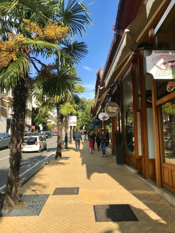 A beautiful shopping street in Opatija